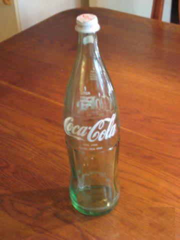 1 liters glasflaska